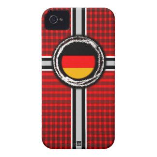 La bandera de Alemania graba en relieve la caja ro Case-Mate iPhone 4 Fundas