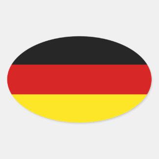 La bandera de Alemania Pegatinas De Oval