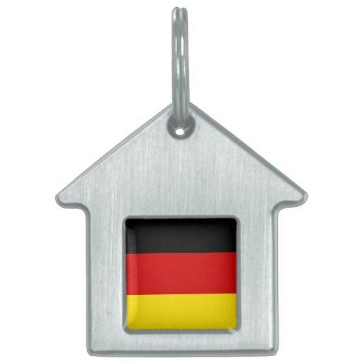 La bandera de Alemania Placa De Mascota