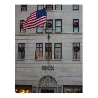 La bandera de América que vuela orgulloso en el Postal