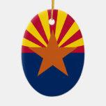 La bandera de Arizona Ornamento Para Arbol De Navidad