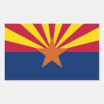 La bandera de Arizona Etiqueta