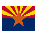 La bandera de Arizona Postales