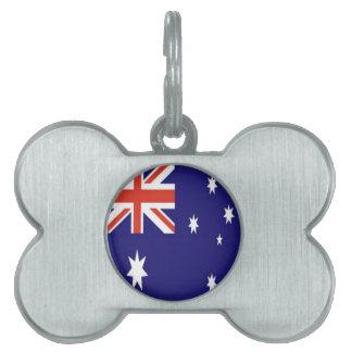 La bandera de Australia Placa De Nombre De Mascota