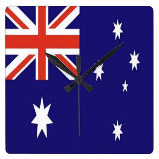 La bandera de Australia Reloj Cuadrado