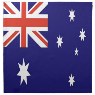 La bandera de Australia Servilletas De Papel