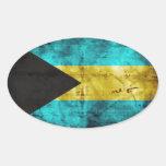La bandera de Bahamas Pegatina Ovalada