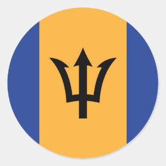 La bandera de Barbados Pegatinas Redondas