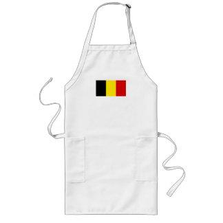 La bandera de Bélgica Delantal