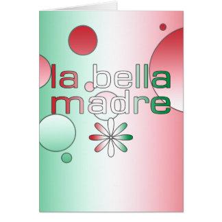 La bandera de Bella Madre Italia del La colorea Tarjeta Pequeña