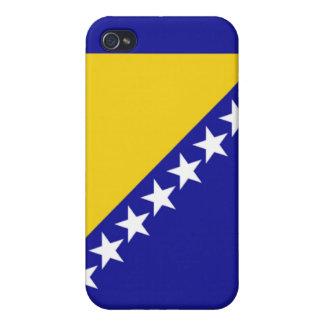 La bandera de Bosnia y Herzegovina iPhone 4 Cárcasas