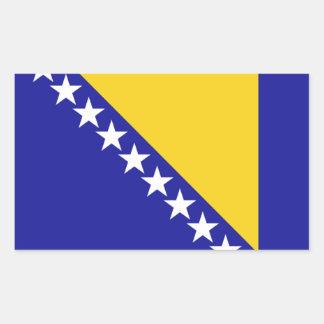 La bandera de Bosnia y Herzegovina Pegatina Rectangular