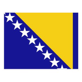 La bandera de Bosnia y Herzegovina Postal