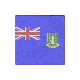 La bandera de British Virgin Islands Imán De Piedra