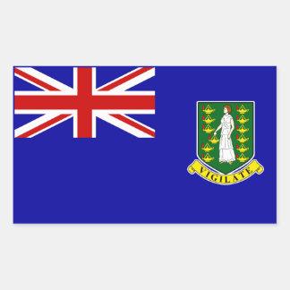 La bandera de British Virgin Islands Rectangular Pegatinas