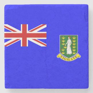 La bandera de British Virgin Islands Posavasos De Piedra