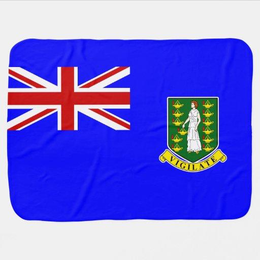 La bandera de British Virgin Islands Mantitas Para Bebé