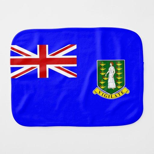 La bandera de British Virgin Islands Paños Para Bebé