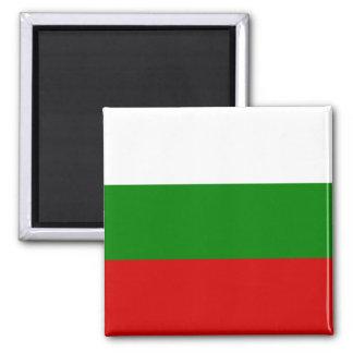 La bandera de Bulgaria Imán Cuadrado