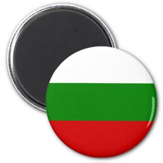 La bandera de Bulgaria Imán Redondo 5 Cm