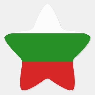 La bandera de Bulgaria Pegatina En Forma De Estrella