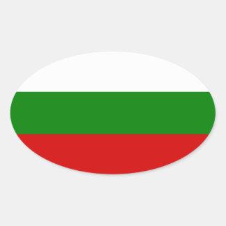 La bandera de Bulgaria Pegatina Ovalada