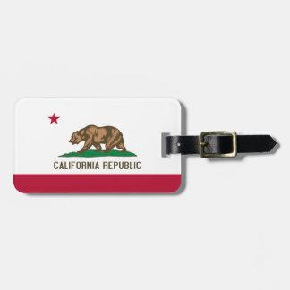 La bandera de California personalizó la etiqueta d Etiquetas Bolsa