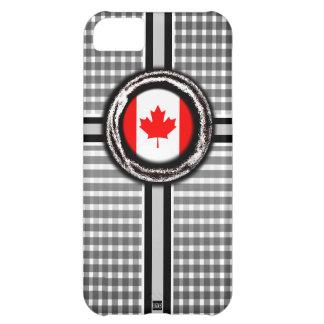 La bandera de Canadá graba en relieve la caja blan