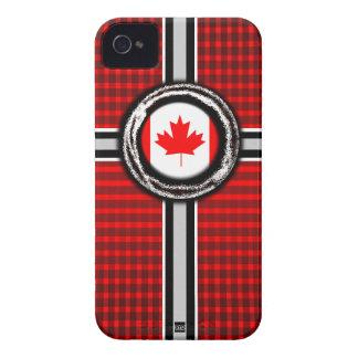 La bandera de Canadá graba en relieve la caja de l iPhone 4 Coberturas