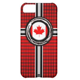 La bandera de Canadá graba en relieve la caja de l