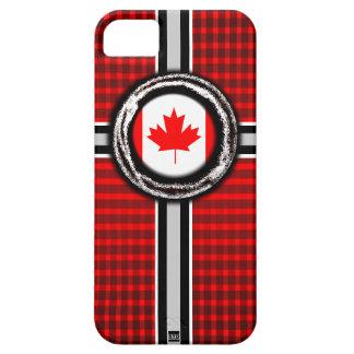 La bandera de Canadá graba en relieve la caja de l iPhone 5 Case-Mate Protectores