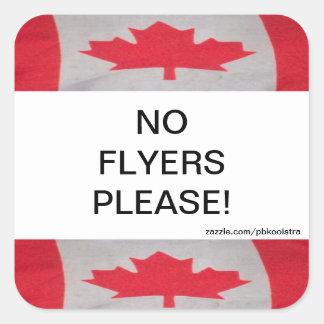 La bandera de Canadá ningunos aviadores satisface Pegatina Cuadrada