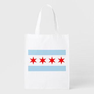 La bandera de Chicago Bolsas Para La Compra