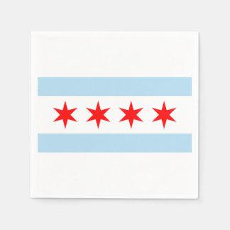 La bandera de Chicago Servilletas Desechables