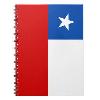 La bandera de Chile Libro De Apuntes Con Espiral
