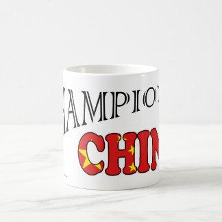 La bandera de China defiende la taza