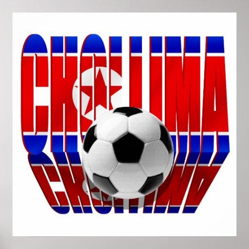 La bandera de Chollima de los fanáticos del fútbol Póster