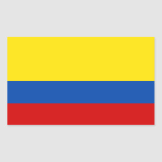 La bandera de Colombia Etiqueta