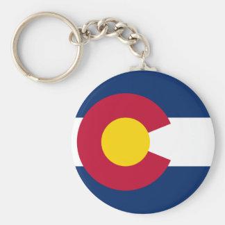 La bandera de Colorado Llaveros Personalizados