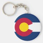 La bandera de Colorado Llavero Redondo Tipo Pin