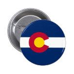 La bandera de Colorado Pin Redondo De 2 Pulgadas