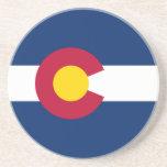 La bandera de Colorado Posavaso Para Bebida