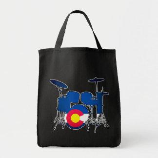 La bandera de Colorado teclea la bolsa de asas