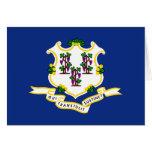 La bandera de Connecticut Tarjeton