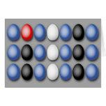 La bandera de cuero Eggs la tarjeta