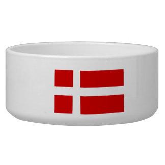 La bandera de Dinamarca Tazon Para Perro