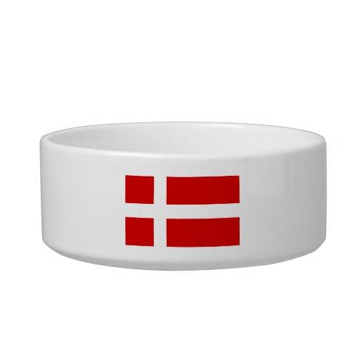 La bandera de Dinamarca Tazones Para Agua Para Gatos