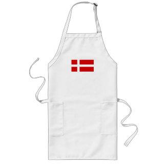 La bandera de Dinamarca Delantal Largo