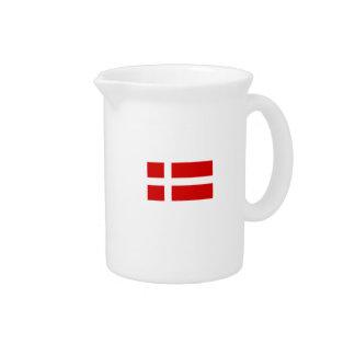 La bandera de Dinamarca Jarras