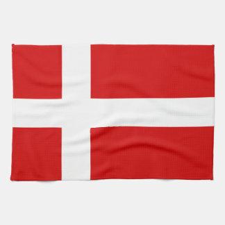 La bandera de Dinamarca Toallas De Mano